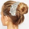 New Wedding Fab Austrian Crystal Flower Silver Fascinator Hair Pin Clip Dress Comb Jewelry 2017 Accessories