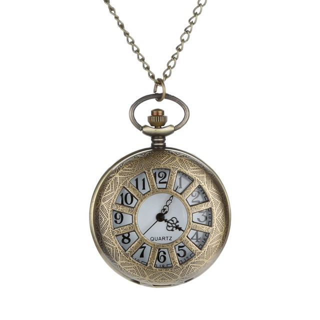 2019 News Arrival Fashion Unisex Personalized Pattern Steampunk Vintage Quartz Roman Numerals Pocket Watch12.14