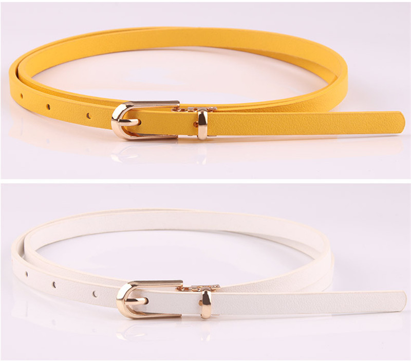 HTB17THpainrK1Rjy1Xcq6yeDVXaZ - Women Faux Leather Belts Candy Color Thin Skinny Waistband Adjustable Belt Women Dress Strap cinturon mujer cinto feminino