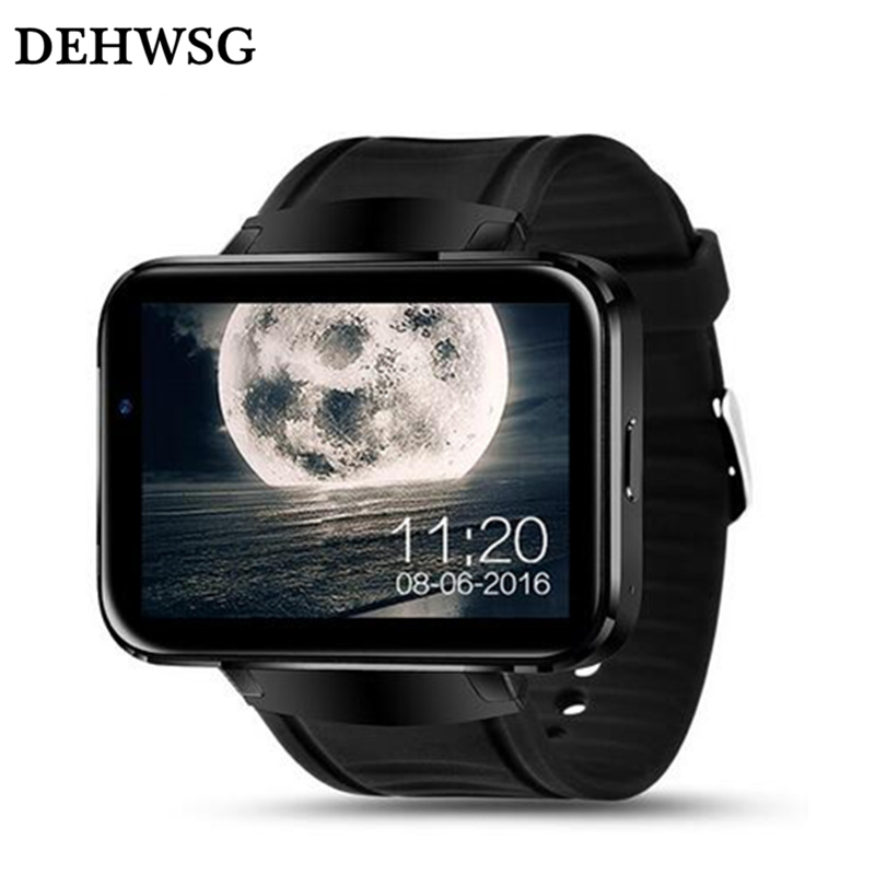 DEHWSG Android smart watch DM98 MTK6572 dual core 2.2 inch big IPS Touch Screen 900mAh battery wristwatch support 3G WiFi GPS