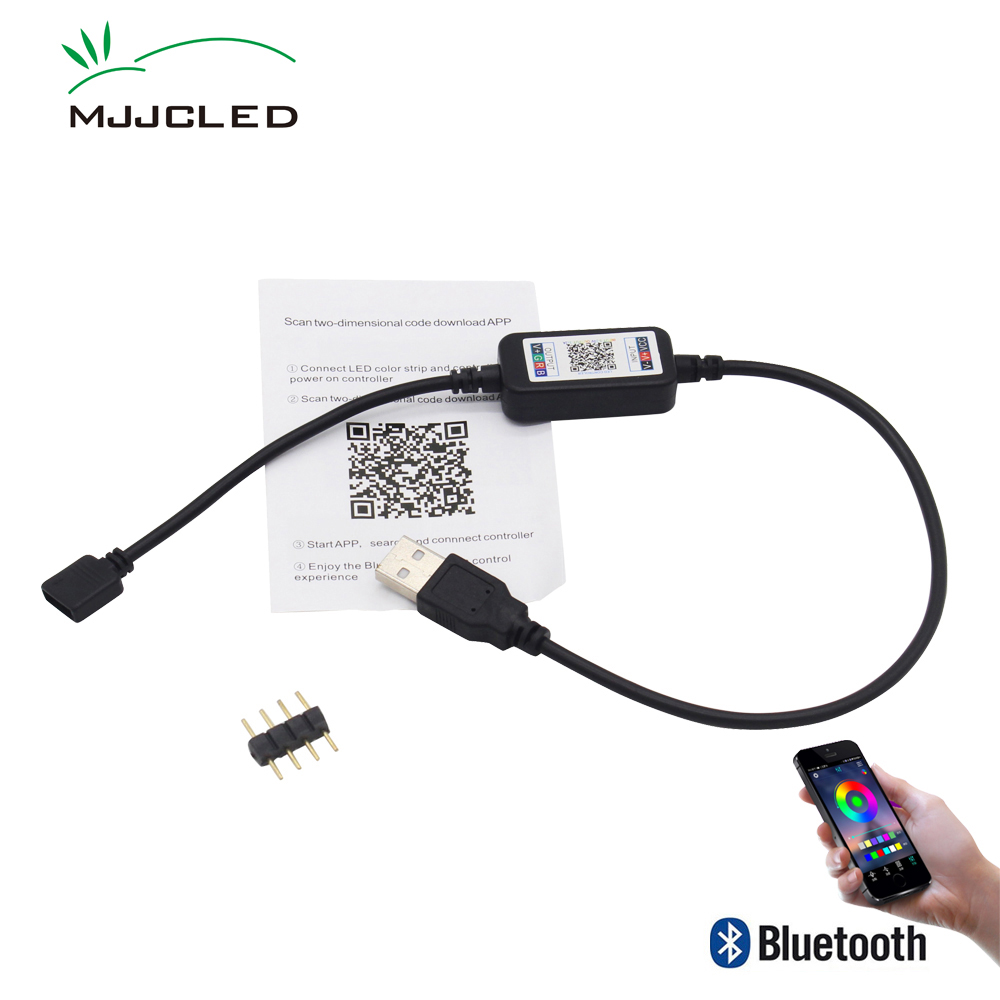 Bluetooth RGB LED Controller USB 5V Mini App Bluetooth Controller IOS Android Phone Wireless Control for RGB LED Strip Smart image
