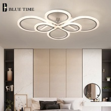 Black&White Finished Modern LED Chandelier Lighting For Dining Room Living Bedroom Fashion Water-Drop Shape Chandeliers