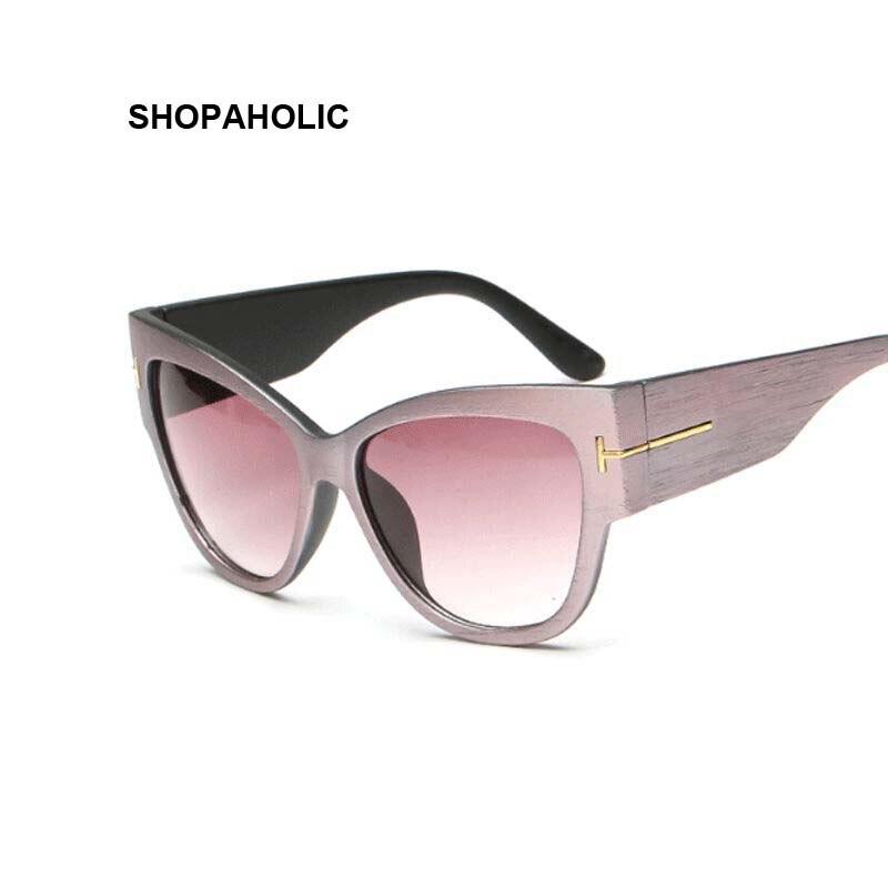 New Gradient Points Cat Eye Women Sunglasses Tom High Fashion Sun Glasses Female Cateyes Sunglasses Women Brand Designer Oculos 4