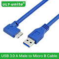 Original 1M Blue USB 3.0 Data Cable 90 Degree Elbow USB3.0 A Male to Micro B HDD Camera Extension Cord