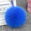 Fashion 12 Colors Fur Ball Pom Pom Keychain Car Keyring Rabbit Fur Ball Keychain Fur Pompons Bag Charms Rabbit Fur Keyrings