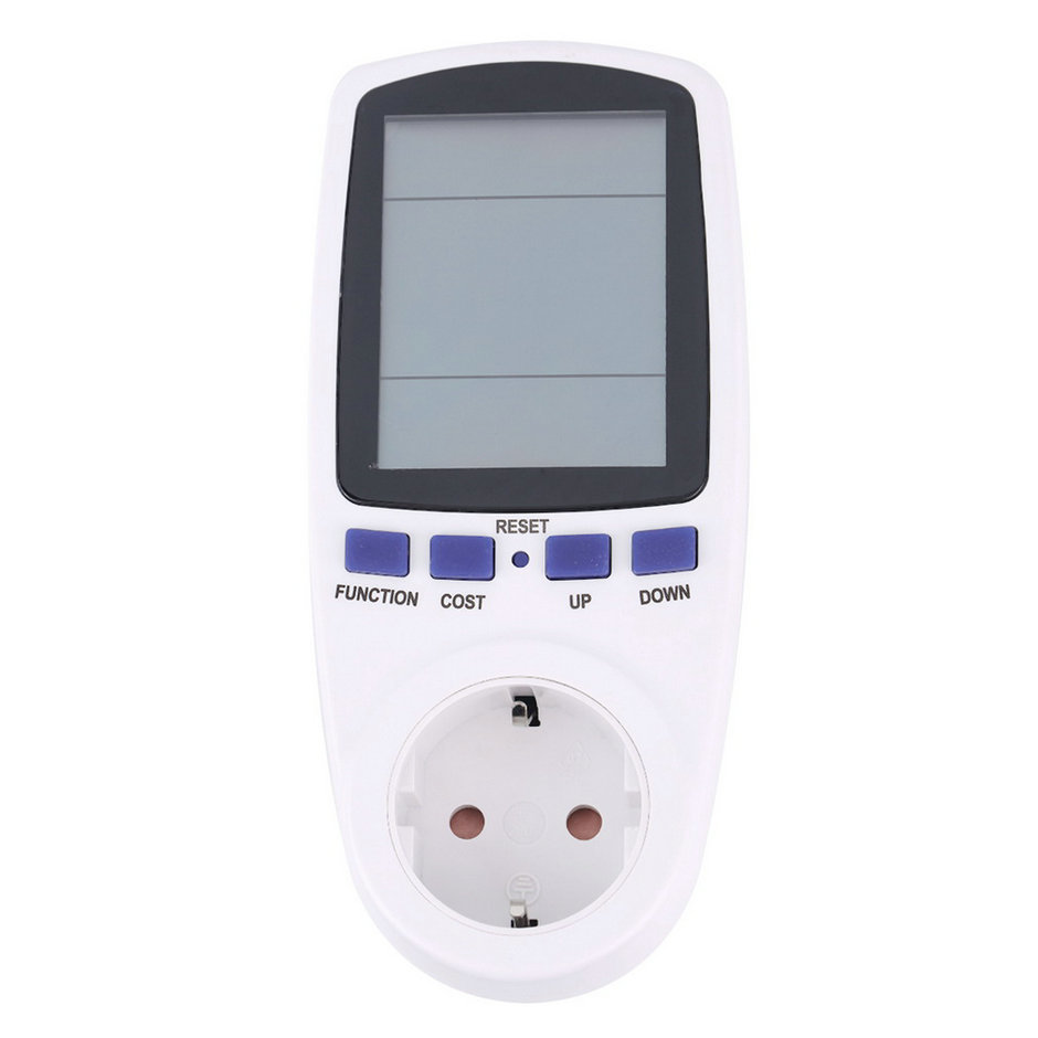 EU Plug LCD Energy Meter Voltage Wattage Current Monitor Watt Checker Saving Power Electricity Socket Analyzer Electronic Switch