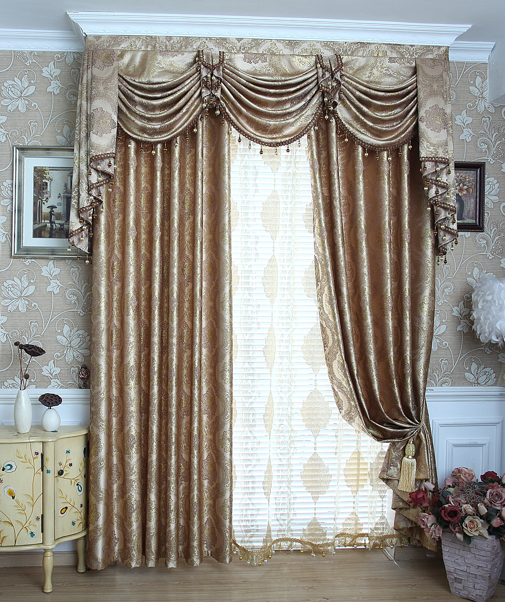 Gold valances promotion shop for promotional gold valances for Living room valances