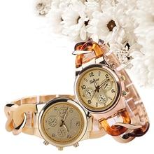 Women's Fashion Alloy Plastic Analog Quartz Bracelet Student Gift Wrist Watch