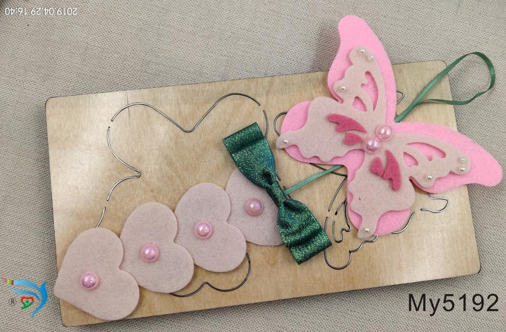 Butterfly Pendant wood moulds die cut accessories wooden die Regola Acciaio Die Misura MY muyu