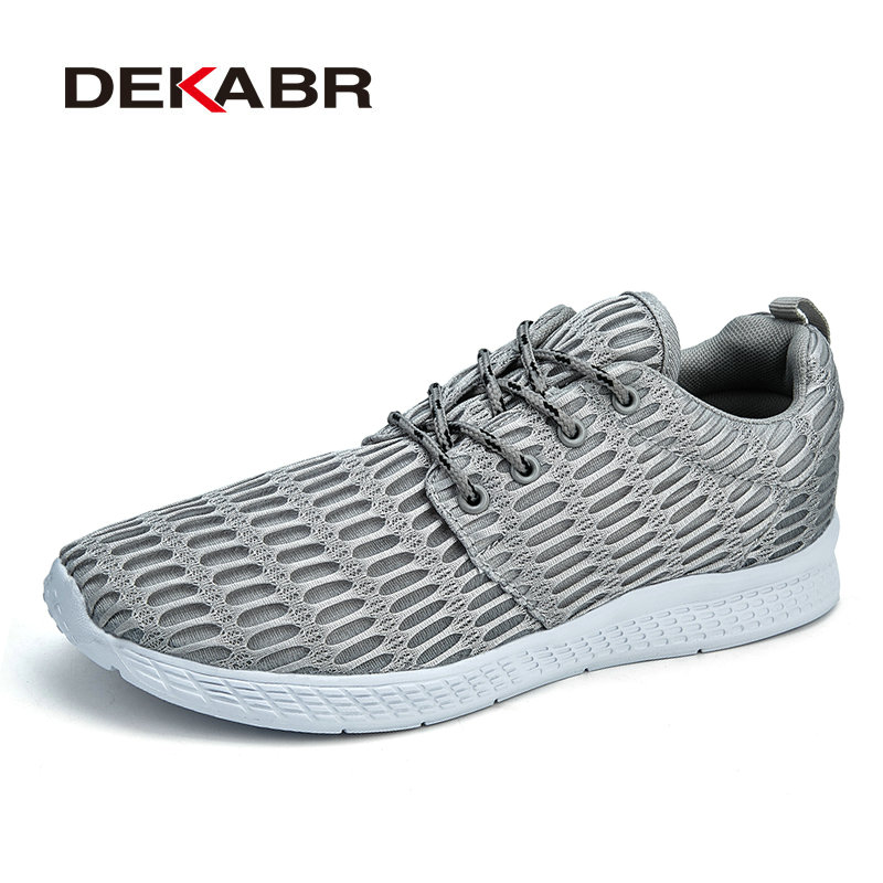 DEKABR 2018 New Woman Shoes Summer Mesh Breathable Casual Shoes Light Weight High Quality Unisex Footwear Plus Big Size 35-48 plus size casual women shoe mesh breathable sneaker female light summer couple shoes free shipping gold silver black huarche