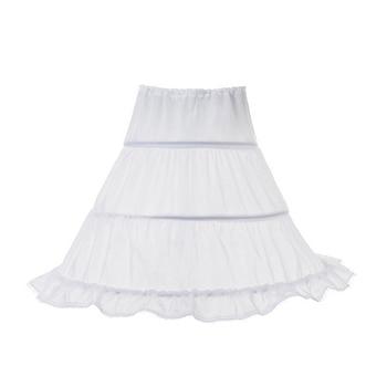 White Long Flower Girl Dress Petticoat 2...