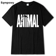 Eqmpow Animal print tracksuit t shirt muscle shirt Trends in 2016 fitness cotton brand clothes for men bodybuilding Tee large