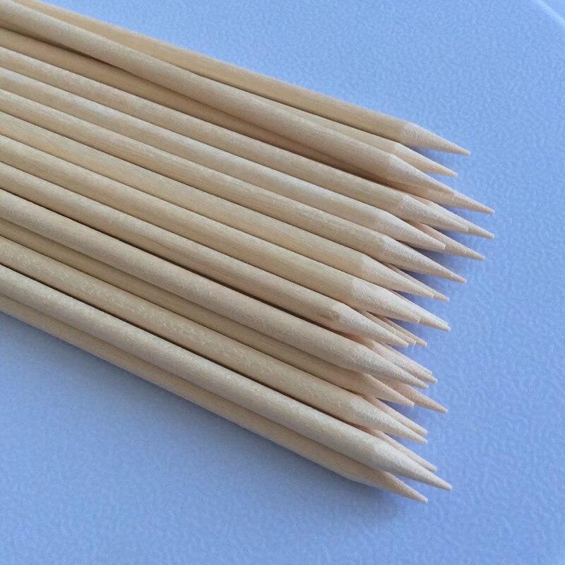 Nützliche Orange Holz Sticks 50 teile / los Nagelhautschieber - Nagel Kunst - Foto 6