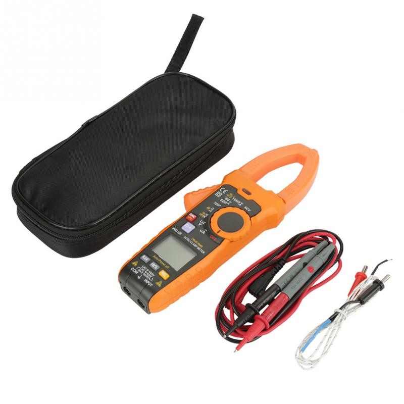 PEAKMETER PM2128 Handheld Digital AC DC Voltage Current Clamp Meter Resistance Capacitance Non contact Clamp Meter
