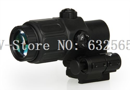 Free Shipping Tactical Holographic Sight 3x Magnifier Rifle Scope Compact scope With STS Mount For AR15/M4 Hunting