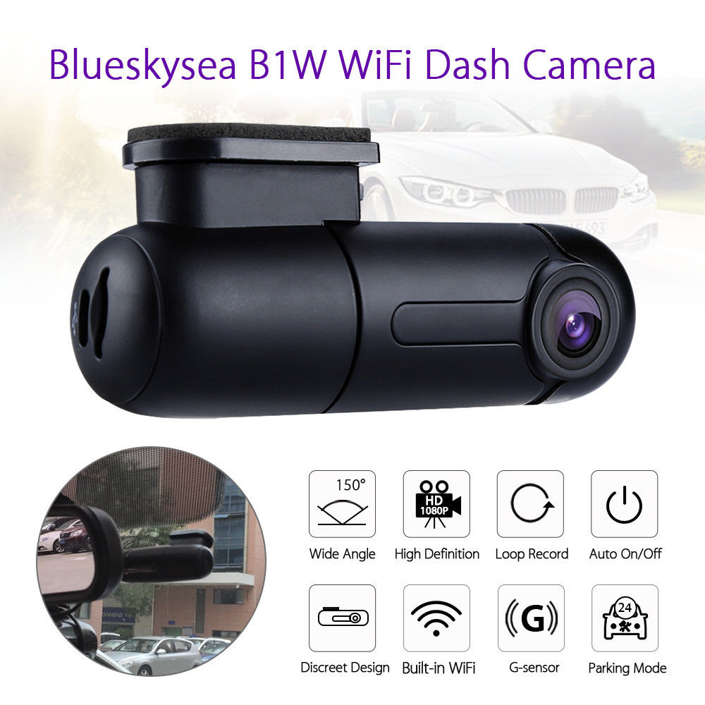 Blueskysea Dash-Cam Dvr Camera Wifi Super-Capacitor IMX323 Mini Novatek Rotate-G-Sensor