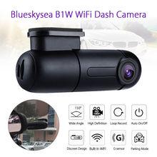 цены Blueskysea B1W 1080P IMX323 Novatek GM8135S Mini WiFi Car Dash cam DVR Camera 360degree Rotate G-Sensor Super capacitor
