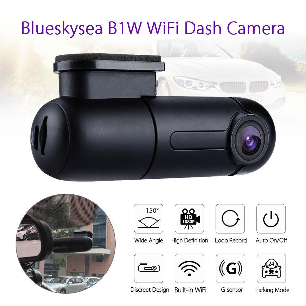 Blueskysea B1W 1080P IMX323 Novatek GM8135S Mini WiFi Car Dash cam DVR Camera 360degree Rotate G-Sensor Super capacitor