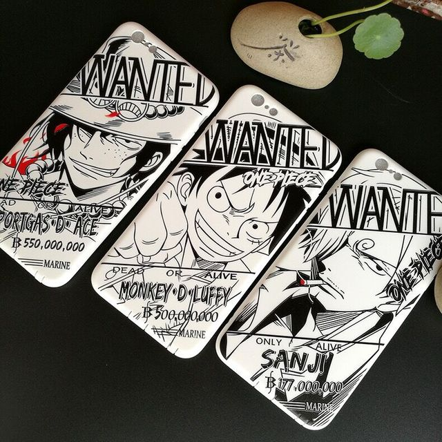 One Piece luffy Reward Soft Case for iphone 6 6s 6plus 7 8 plus