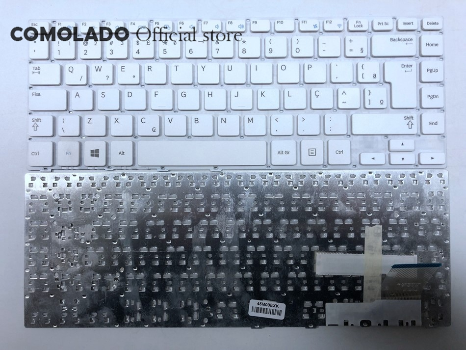 BR Brazil Keyboard for Samsung 370R4E 370R4V 450R4E 450R4V 470R4E 470R4V NP370R4E NP450R4E white BR Layout in Replacement Keyboards from Computer Office