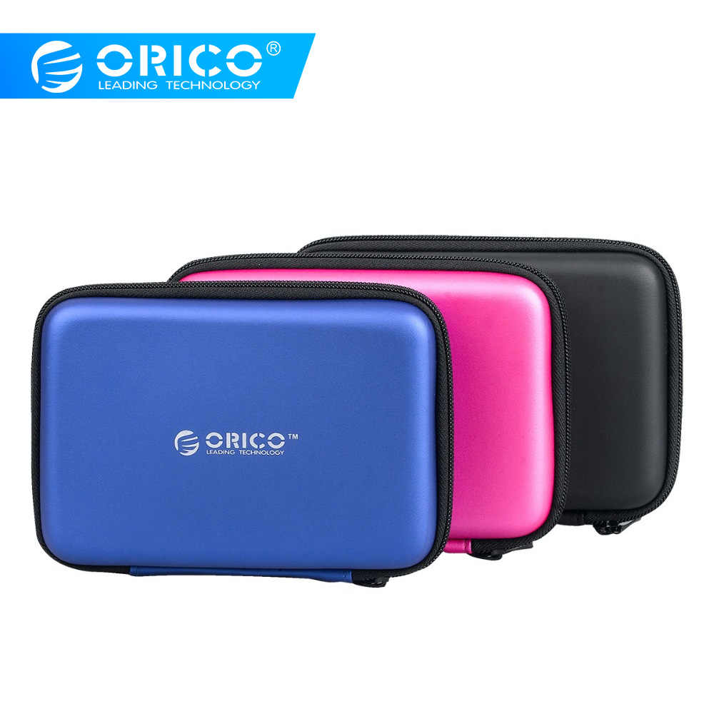 ORICO PHB-25 2.5 inch Portable Hard Drive Carrying Case ,For Card Reader,Cables-Black/Blue/Pink