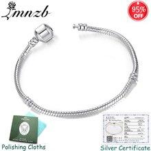 Big Sale 95% OFF! Sent Original Certificate! Fine Jewelry 925 Solid Silver Snake Bone Charm Bracelets Bangles for Women BL005
