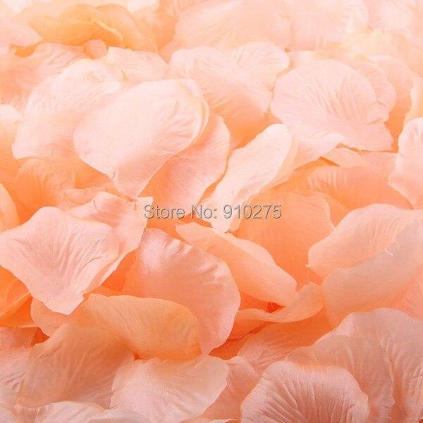 500 Pzlotto Color Pesca Di Seta Petali Di Rosa Artificiale Fiore