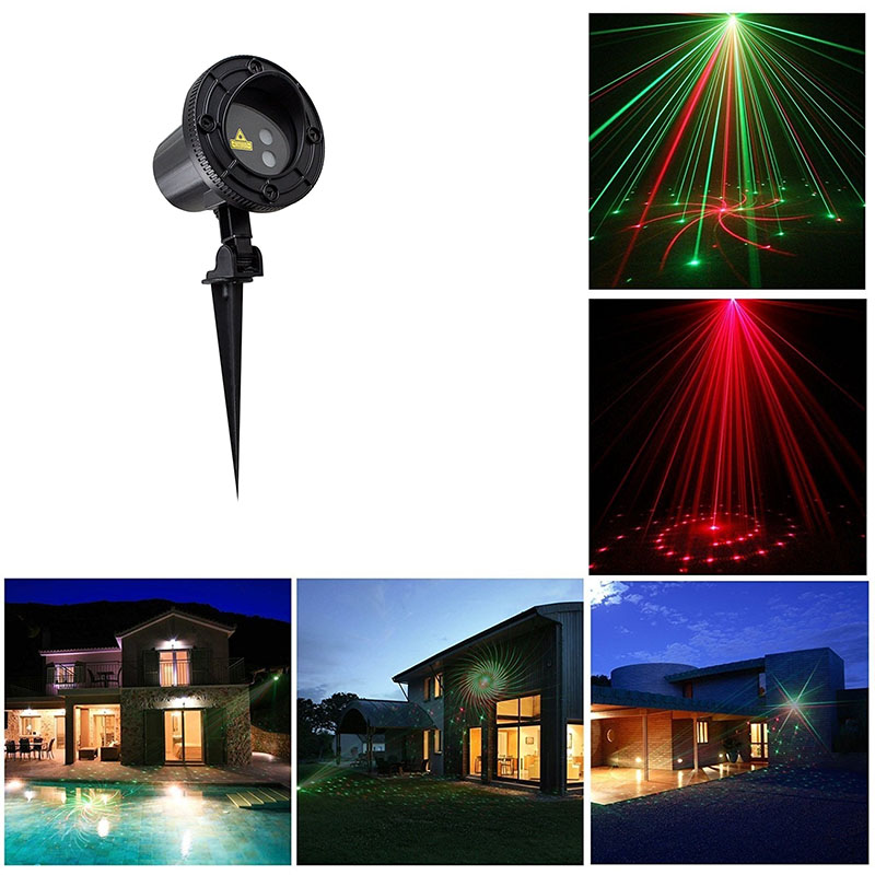 12 Big Patterns Christmas Laser lights Landscape Outdoor show Red Green Lawn lamps Waterproof IP65 Xmas Tree Garden decorative oxo good grips 3 in 1 avocado slicer green garden lawn maintenance