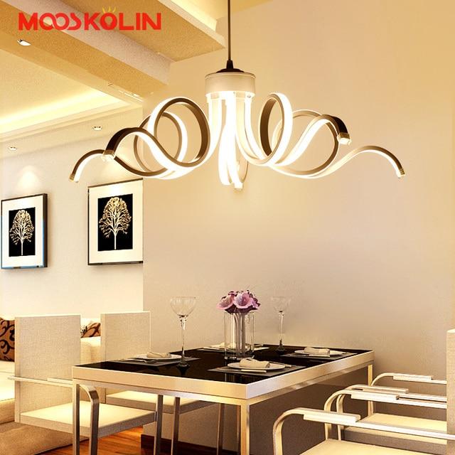 2017 Neue Design Moderne Pendelleuchten Für Wohnzimmer Esszimmer Küche  Leuchtet Acryl Körper Hängen Lampe Led
