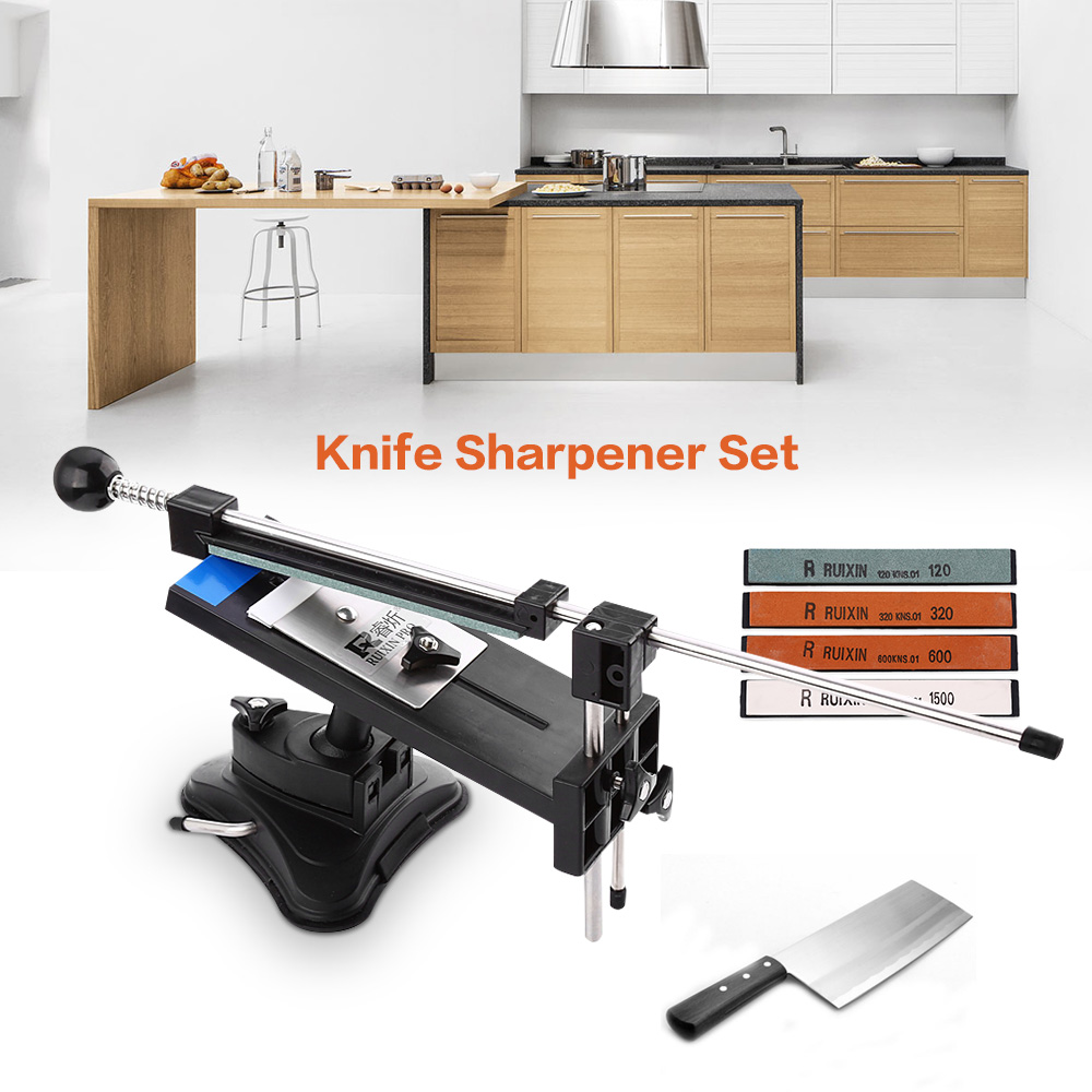 Ruixin Pro II affûteuse de couteau de Chef professionnel et système de meulage de couteau de Chef bord d'apex de crayon avec 4 pierre à aiguiser en vente