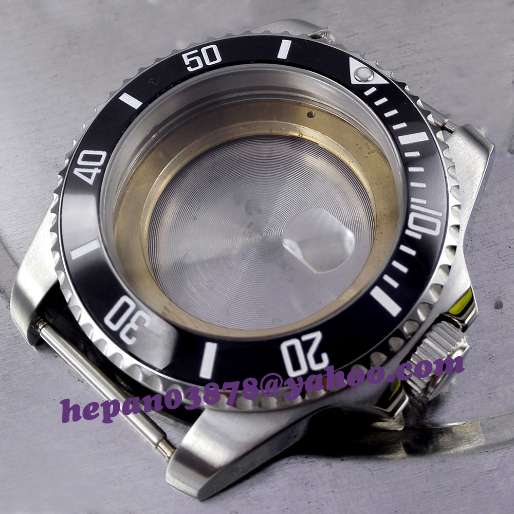 43mm Sapphire glass black ceramic bezel sterile stainless steel Watch Case fit ETA 2824 2836 movement C002 new lcd display 7 inch prestigio 32001233 15 tablet lcd screen panel lens frame replacement free shipping