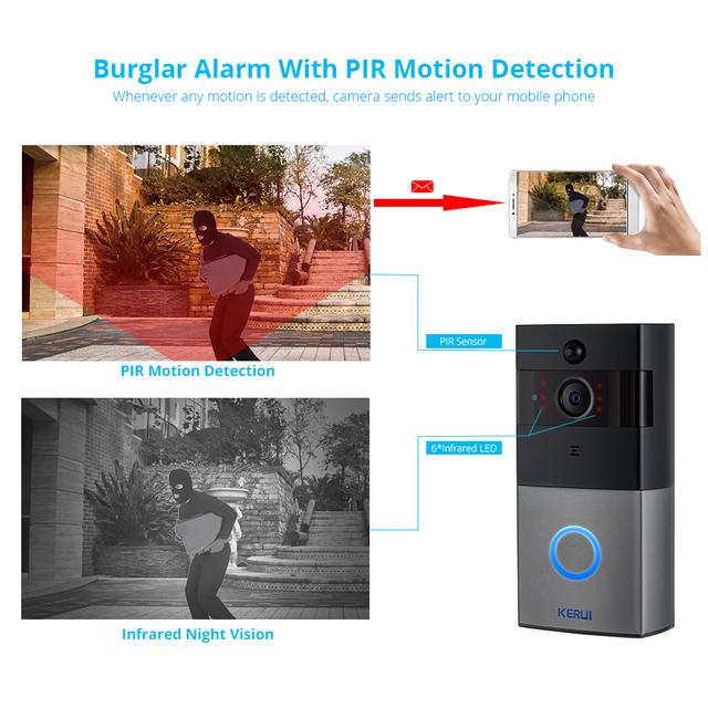 Two Way Audio Video WIFI Doorbell Camera