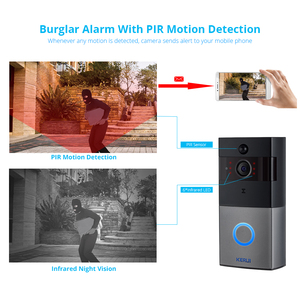 Image 5 - KERUI Tuya Smart Life Wireless WiFi Video Intercom Doorbell 2MP 1080P Phone Call Door Bell Home Security Night Vision Camera
