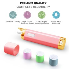 Smart Electric Nail Buffer and Polisher Portable Pedicure&Manicure Nail Care seamless grinding head Included