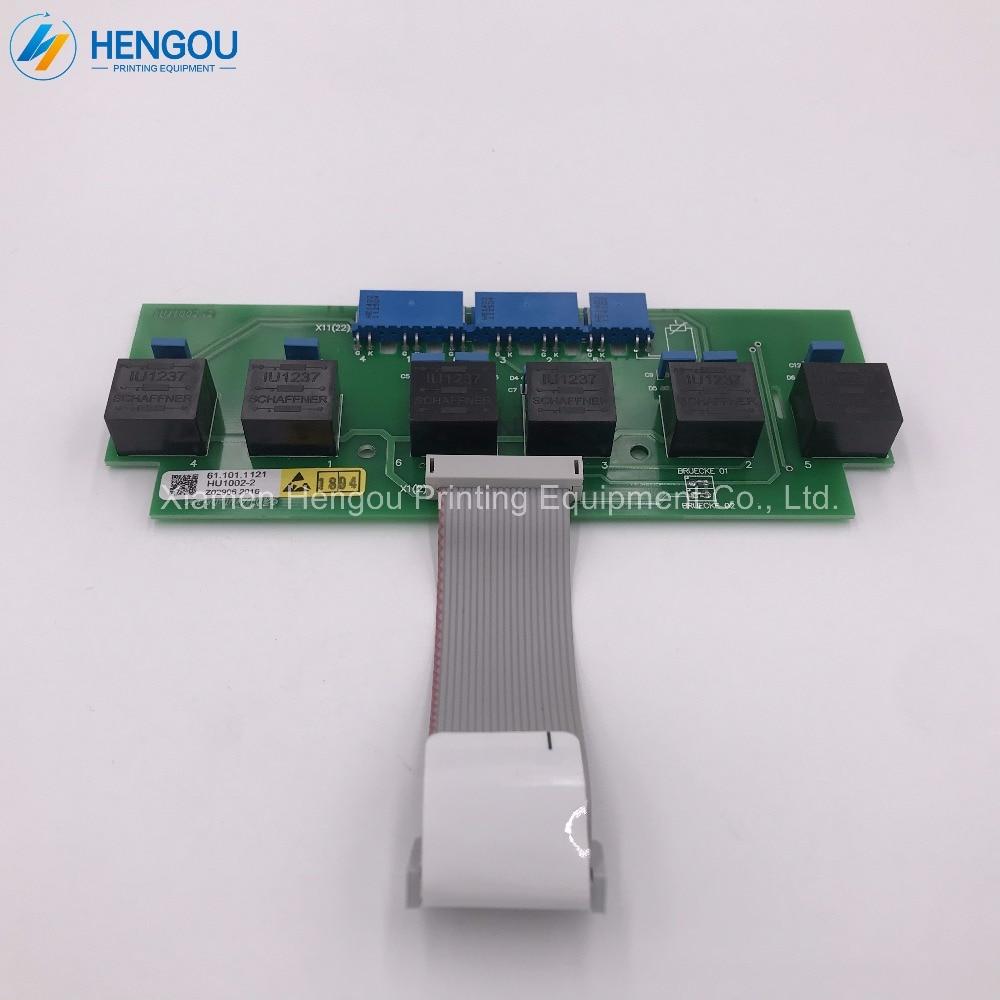 2 pieces heidelberg board 61.101.1121 S9.101.1121 NT0131011P5 HU1002 board цена
