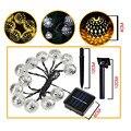 Marroquí de 10 LED Solar Powered Led Cadena de Luces de Navidad Del Banquete de Boda de Decoración Del Hogar LED solares luces de hadas