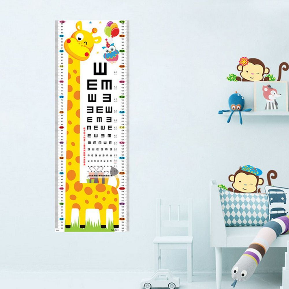 Cartoon wall decal sticker giraffe kids growth height eye exam cartoon wall decal sticker giraffe kids growth height eye exam vision test chart in wall stickers from home garden on aliexpress alibaba group geenschuldenfo Images