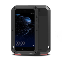 Luxurious and rugged body cover for Huawei P10Plus metal heavy armor for Huawei P10 Plus tempered glass silicone shockproof case