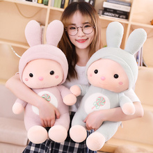 New Creative birthday presents for girls 30cm 45cm 55cm pink and blue stuffed rabbit doll toys with lollipop embroidery on belly