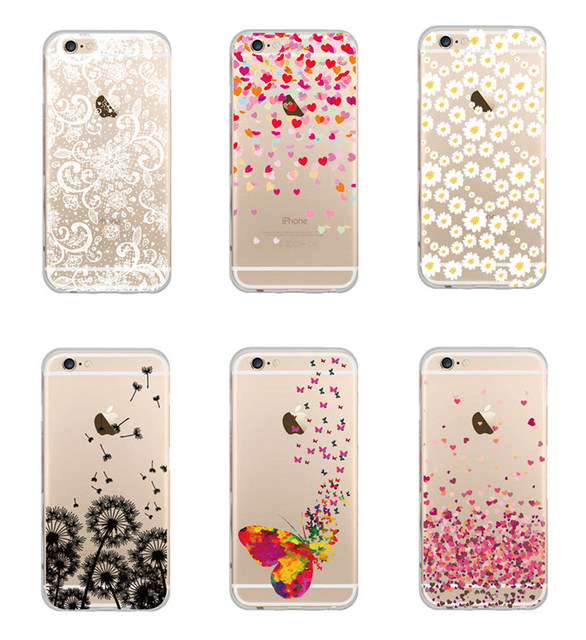 Unique Elegant Butterfly Daisy Heart Pattern Design Phone Case For