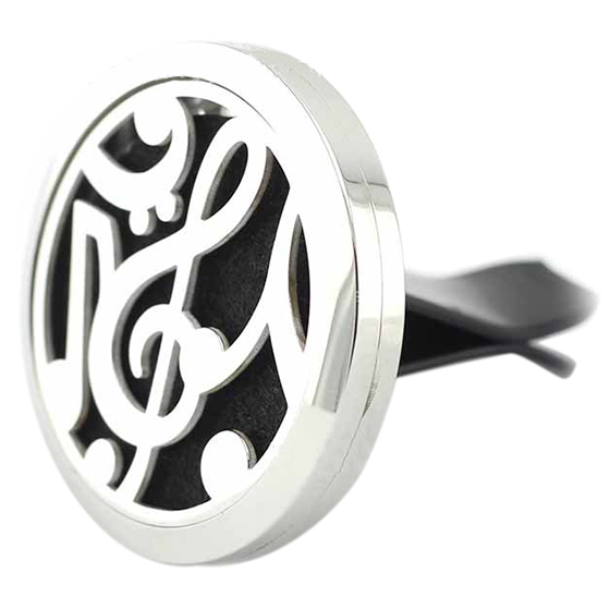 AUTO -Mini Stainless Car Air Auto Vent Freshener Essential Oil Diffuser Gift Locket Decor with 10 Felt Pads Note