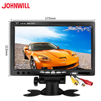 NEW 7 inch 800x480 industrial Car Reverse Backup Rearview LCD monitor 2 AV Input Screen Computer Monitor PC