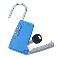 Высокое качество Скрытая сейф с ключом 4-цифровой пароль Комбинации замок с одной главной балкой с крючком мини металлический секретный ящи...