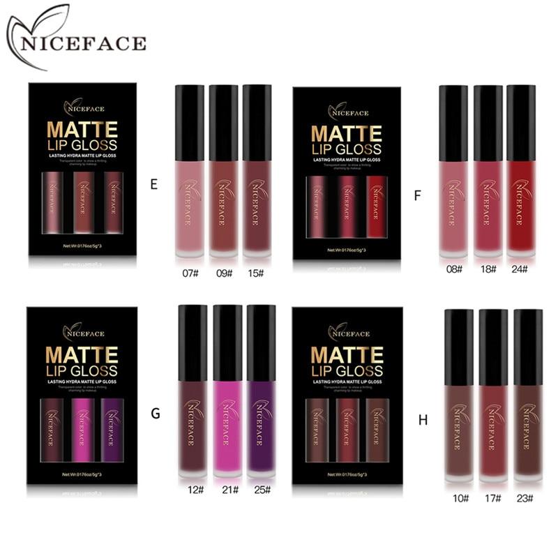 Gloss 3 pçs/set sexy cores brilho Feature : Lips Makeup