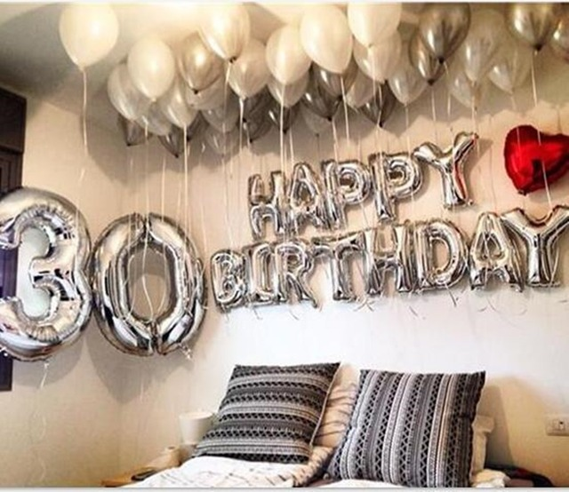 13pcslot 16inch letters silver balloons blue foil gold pink blue baby letters happy birthday