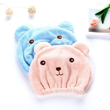 New Cute Bear Bath Cap Soft Microfiber Hair Turban Quickly Dry Hair Hat Wrapped Towel Bathing Cap Hair Speed Dry Shower Cap 1 pc hair drying cap lovely solid color quickly dry hair hat