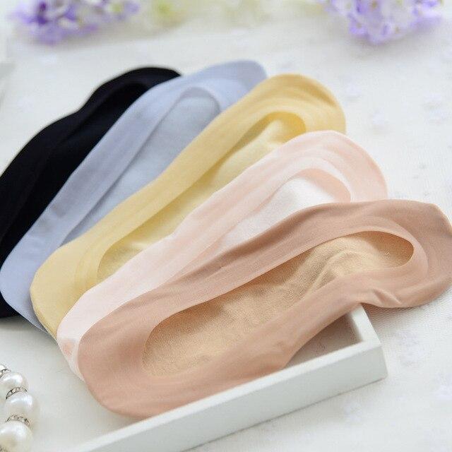 W185 silicone stealth ship socks Shallow bottom female socks women girl  slippers socks 1 pairs