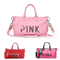 Women Pink/Red/Rose Nylon Sport Gym Bag Travel Duffle Bags Waterproof Handbag Outdoor Fitness Shoulder Bag sac de sport tasche