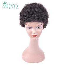 MQYQ Human Hair Wig For Women Afro Kinky Curly Weave Short Hair Machine Made Human Hair Wigs For Women 7001(China)