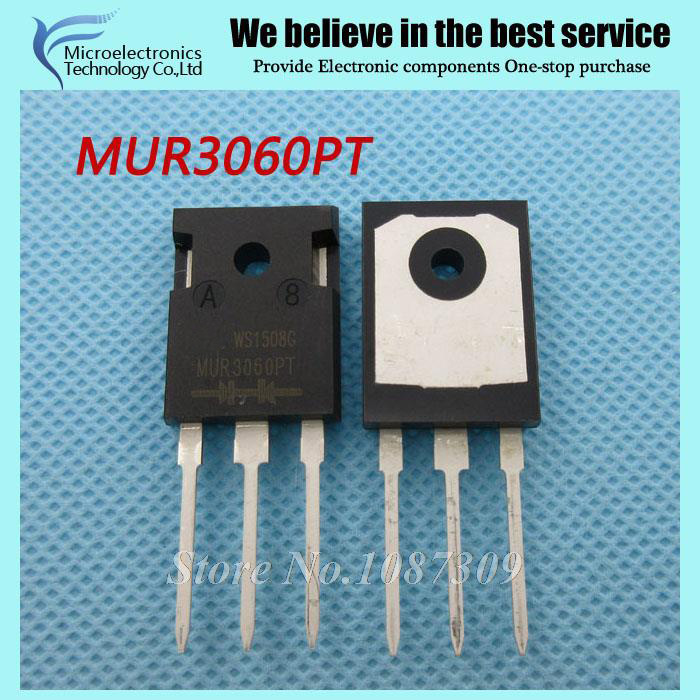 5PCS MUR3060PT MUR3060 TO-247 Fast Recovery Diode New Original